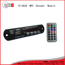 Shenzhen factory 12v car aux reproductor mp3 usb circuito