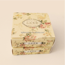 2015 Customized small recycle paper soap box foldable handmade beauty soap packaging box wholesale