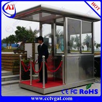 Long life CE certificate factory price police guard house movable stainless steel portable sentry box