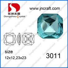 DZ-3011 unique cuts point back fancy stone embllish cloth