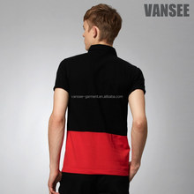 OEM short sleeve color Combination polo for men