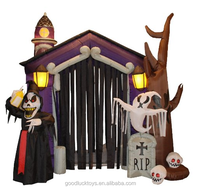 Inflatable Halloween haunted house