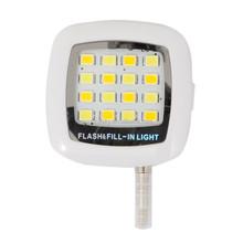 Fashion Mini 16 LED Fill Selfie Flash Light For Cell Phone Smartphone Tablet 3.5mm Jack Plug RK05 High Quality