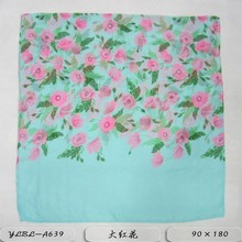Latest fashion cheap ladies printed custom made polyester fleece scarf