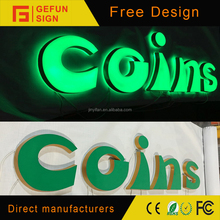 Front and Back light 3D acrylic lighted neon sign for Chrismas decoration