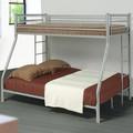 Negro muebles de dormitorio metal de triple cama