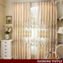 Popular new arrival embroidery curtain with attached valance