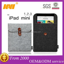 2015 new muticolor fashion felt cover for IPAD MINI