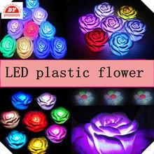 Decorativa flores flotantes con luces, flores artificiales con luces led