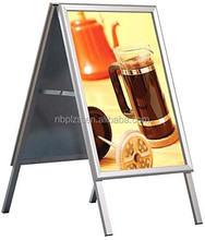 "Penglong Galvenised Backing 36"" X 24"" Poster Size Mitred Corner Silver Anodized Aluminum A Board"