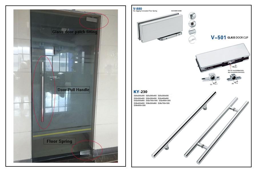 H Type Sliding Glass Door Pull Handledouble Sided Door Pull Handle