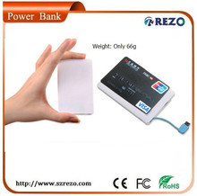 cubic shape original design CE, ROHS, FCC portable power bank charger for sony, samsung and digital camera with 2000mAh
