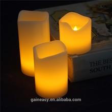 alimentato a batteria giallo bagliore di luce paraffina ha condotto chiesa candela decorativa