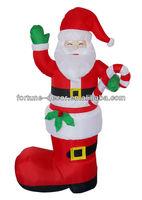 180cm high Christmas inflatable Santa boot