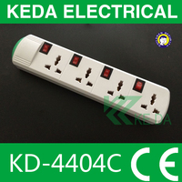 3 outlet/4outlet/5 outlet power strip/individual switch/plug socket