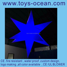 inflatable light decoration/moon and star party decorations/lighted christmas hanging stars decoration