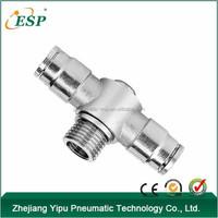 ESP metal pneumatic equipment male T shape conntectors single universal fittings