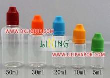 Fácil añadiendo 100 ml botellas de plástico pet con tapa a prueba de niños para aceite esencial