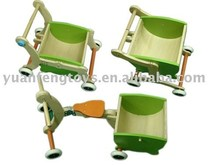 Children toy grow-up carriage,wooden baby cart
