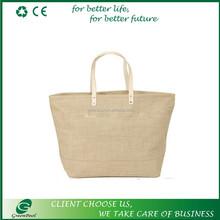 Customized jute tote bag large jute shopping bags