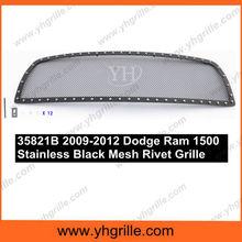 Piezas de automóviles Compatible con 2009-2012 Dodge Ram 1500 acero negro malla <span class=keywords><strong>parrilla</strong></span> <span class=keywords><strong>delantera</strong></span>