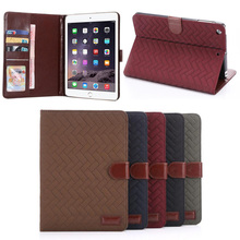 Retro Check Pattern PU leather case for ipad mini 2
