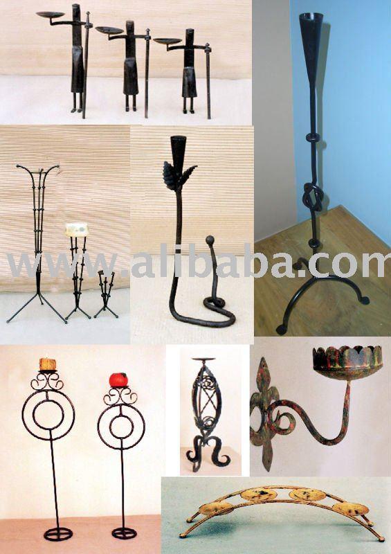 Portacandele in ferro battuto candela in ferro battuto - Portacandele da parete ...