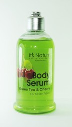 It's Nature - Natural Anti-Aging with Dead Sea Minerals, Anti-Aging Green Tea and Cherry Body Serum for All Skin Types