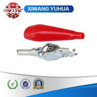 zinc plated steel crocodile clip with insulation