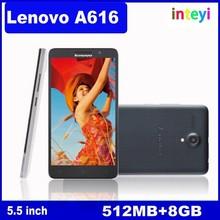 Cheap Lenovo A616 Cellphone MTK6732M Quad Core 5.5 inch IPS 512MB RAM 8GB ROM Dual Camera 5MP GPS China 4G Lenovo