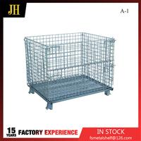 New Design Steel Storage Folded Wire Cage Detail