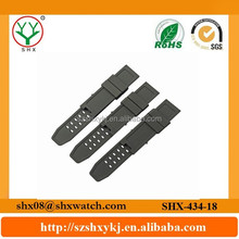 23mm new fashion shape and eco-friendly silicone material watch band strap low price made in china