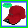 Unisex 100% cotton double brims hats in red/black