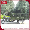 Green three wheel gasoline motorcycle with good quality rear axle assy