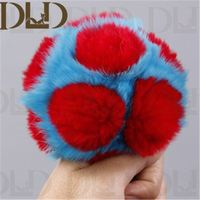 fur pom poms rabbit hair ball scarf Garment Accessories