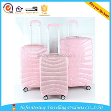 high quality export to Europe and American pink PC 4 wheels luggage