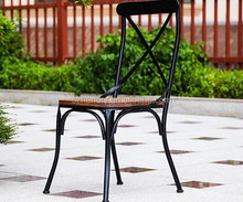 Simple design metal frame cafe chair