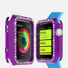 For I watch accessory 42mm or 38mm clear ultra thin diamond TPU case, For I watch case China Factory Price 10 colors