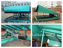 Dcqy dock de carga rampas, altura ajustable rampa de silla