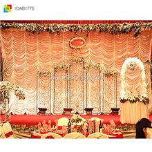 indian wedding stages decorations/cusytomized party backdrop decoration/wedding decoration curtain
