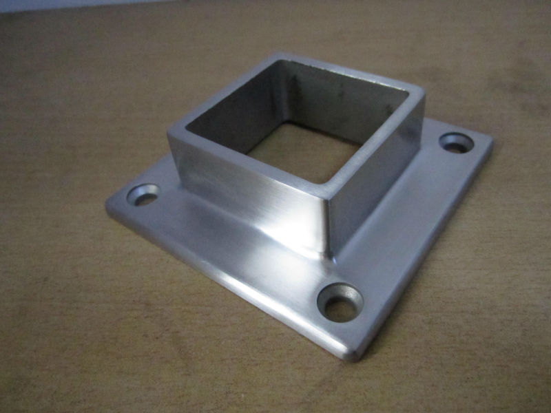 Stainless steel square handrail base flange buy for 1 inch square floor flange