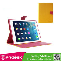 Fast Shipping Mercury Goospery Fancy Diary Stand Leather Wallet Case Shell for iPad Air