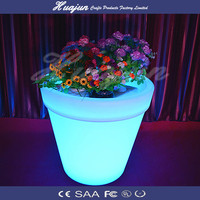 bucket shape flower pot& planters led flower pot used to be sun and raining