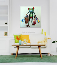 2015 Home Decor Modern Canvas Animal Oil painting