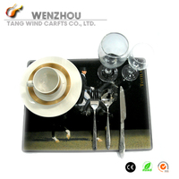 Hot kitchen tool eco-friendly non-toxic anti-heat novely designed food grade MDF Wood placemat