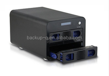 NAS HDD Enclosure HDD Case, NAS server, Black SATA Aluminum External Enclosure For USB 3.0