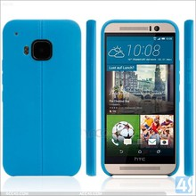 Charming elegant leather coated fancy mobile back covers for htc one m9