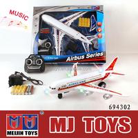 Musical Mini 2ch rc airplane airbus a380 flash rc plane wholesale