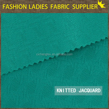 textile industry 2016 high quality jacquard knitting fabric,fashion double sided knit fabric shaoxing textile jacquard fabric