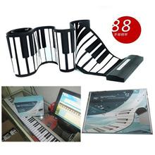 teclas 88 flexible teclado de piano roll up piano electrónico